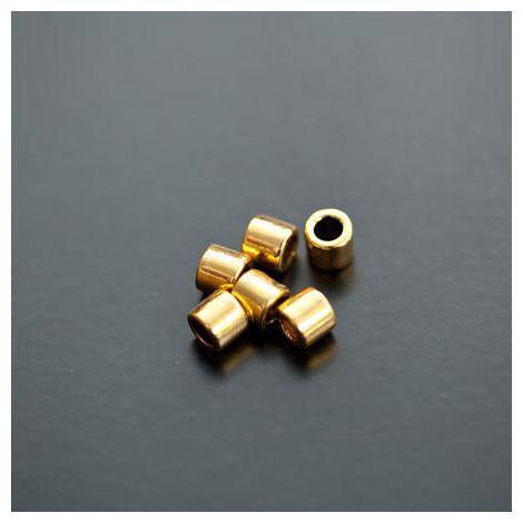Perle en métal Tube 5x4.5mm Doré vieilli