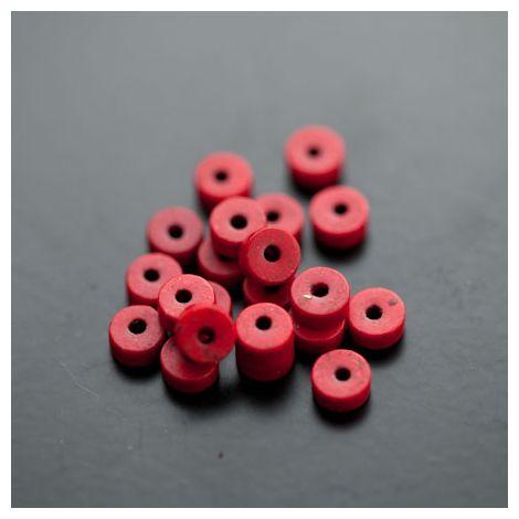 Perle en Turquoise Synthétique Pastille 6x3mm Rouge