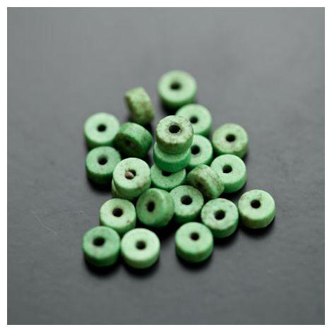 Perle en Turquoise Synthétique Pastille 6x3mm Vert