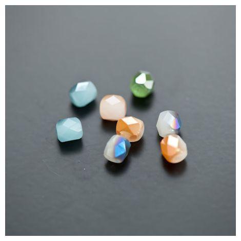 Perle en verre 6mm Opaque Jade Couleur Mixte