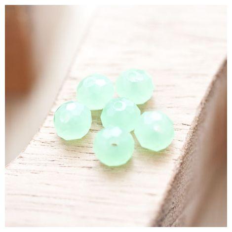 Perle en verre Boulier 8mm Vert jade