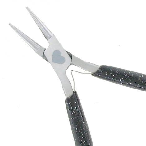 Pince à bec rond 11.5cm Noir paillette V2