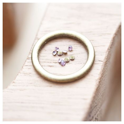 Strass en verre 2mm Rose violet