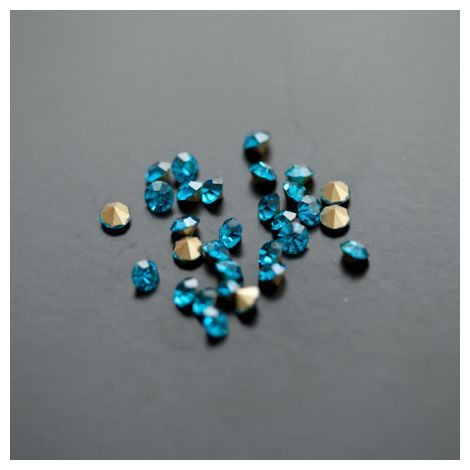 Strass en verre 3.5mm Bleu Turquoise