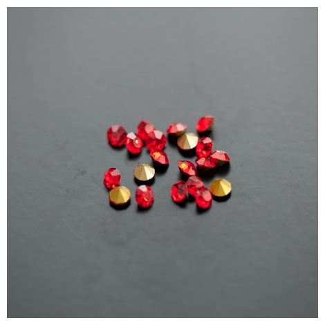 Strass en verre 3.5mm Rouge