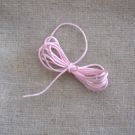 Cordon satin nylon 0,8mm Rose x 2m