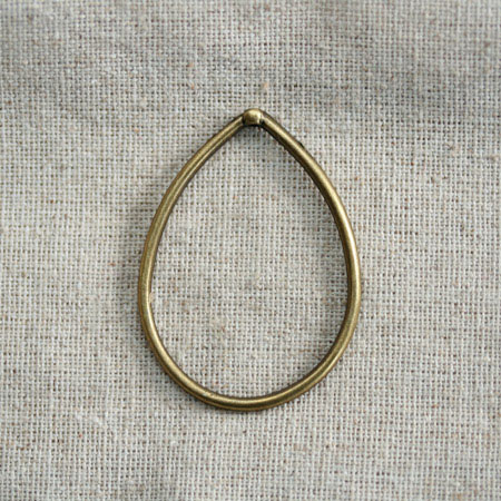 Grand anneau goutte Bronze vieilli x 2