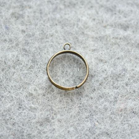 Bague 18mm 1 anneau Bronze vieilli x 5