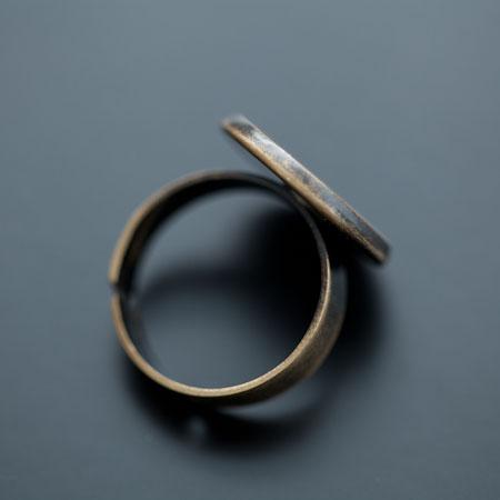 Bague 17mm Cabochon 16mm Bronze vieilli