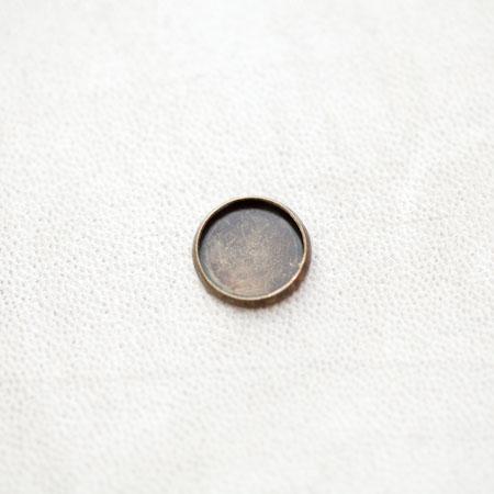 Base de cabochon Rond 12mm Bronze vieilli x 12pcs