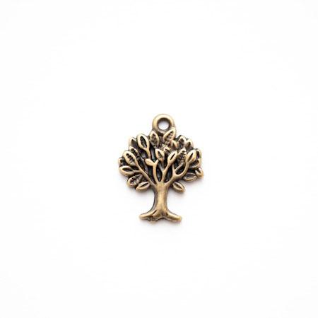 Breloque Petit arbre Bronze vieilli x 4