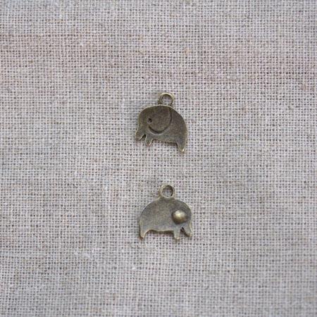 Breloque Elephant mignon x 5