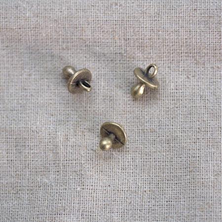 Breloque Tétine Bronze vieilli x 3