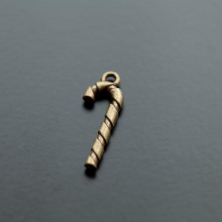 Breloque Sucre d'orge Bronze vieilli x 6