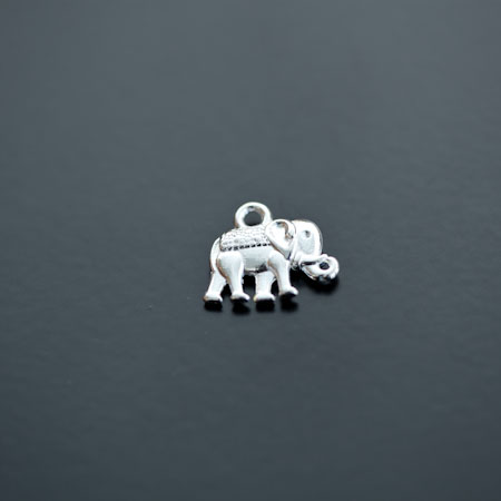 Breloque Éléphant Indien Argenté x 10pcs