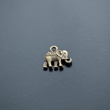 Breloque Éléphant Indien Bronze vieilli x 10pcs