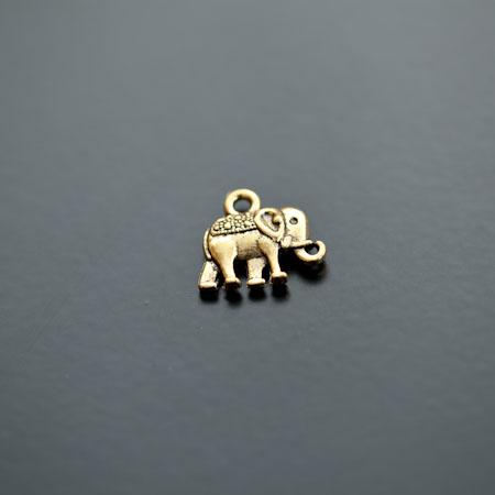Breloque Éléphant Indien Doré vieilli x 10pcs