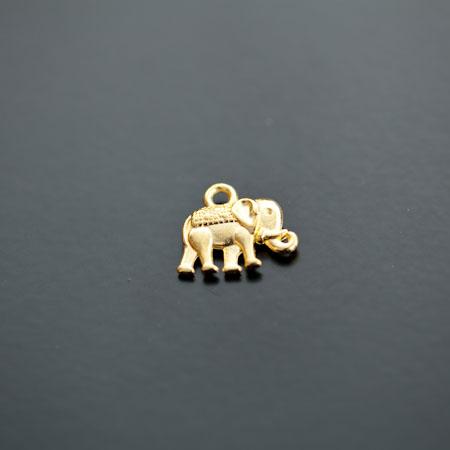 Breloque Éléphant Indien Doré x 10pcs