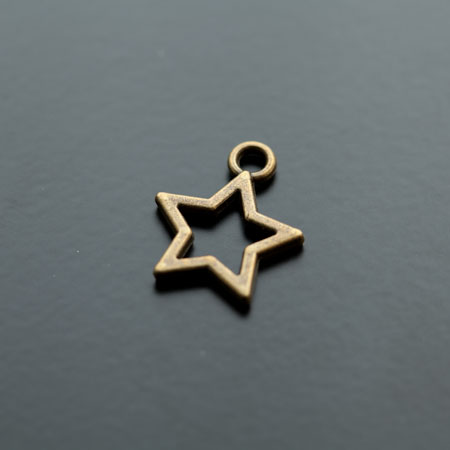 Breloque Étoile Fil 18mm Bronze vieilli x 6