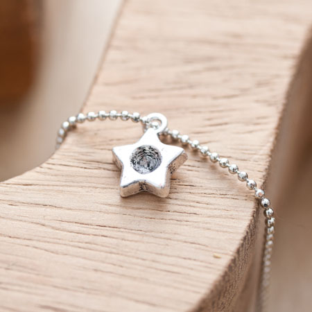 Breloque Petite étoile trou Argent vieilli x 5