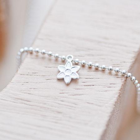Breloque Petite Fleur étoile Argent gris x 12