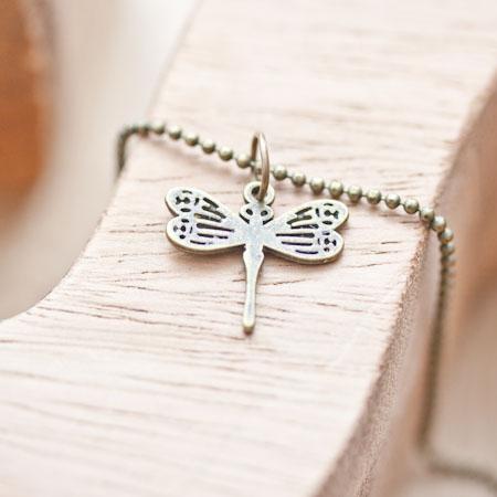 Breloque Petite libellule trais Bronze vieilli x 8