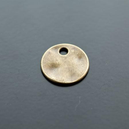 Breloque Plaque ronde 19mm Bronze vieilli x 5