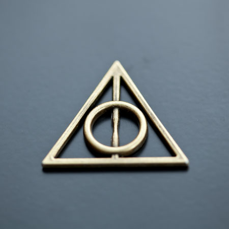 Breloque Symbole Harry Potter Bronze vieilli x 3pcs