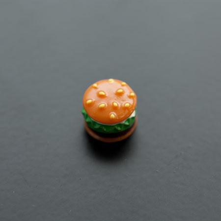 Cabochon en résine 12x10mm Hamburger x 2