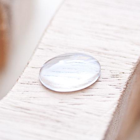 Cabochon en verre 18x13mm Ovale Transparent x 6