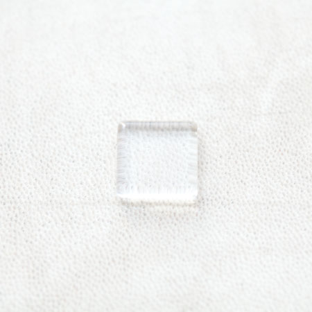 Cabochon en Verre Carré 15mm Transparent x 8pcs