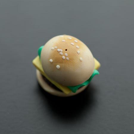 Cabochon Pendentif Polymère 20mm Hamburger x 2