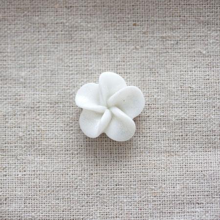 Cabochon résine Fleur 2,1cm Blanc pailleté x 20
