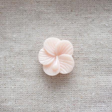 Cabochon résine Fleur 2,2cm Pêche pastel x 2
