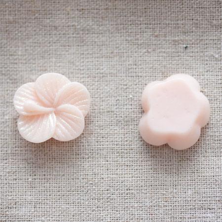 Cabochon résine Fleur 2,2cm Pêche pastel x 20