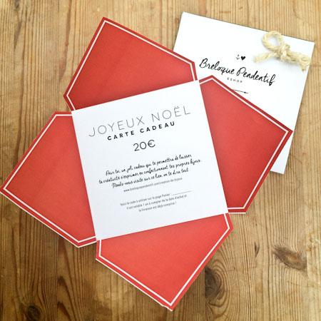Carte Cadeau 20€ Couleur Noël