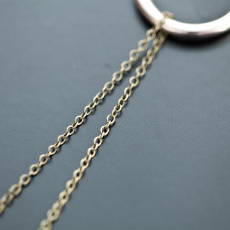 Chaîne fine à maillons 2x1.5mm Bronze vieilli x 1m