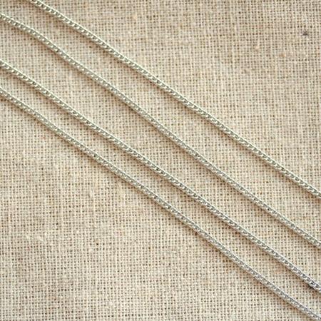 Chaîne à maillons serrés Argent gris x 1m