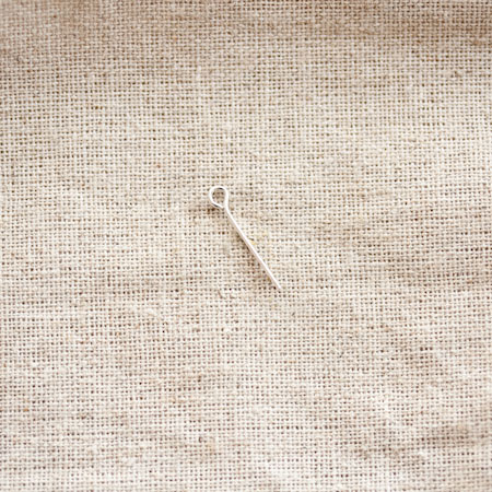 Clou à boucle  1,8cm Argent x 30