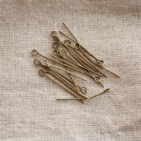 Clou à boucle 3.0cm Bronze vieilli x 60