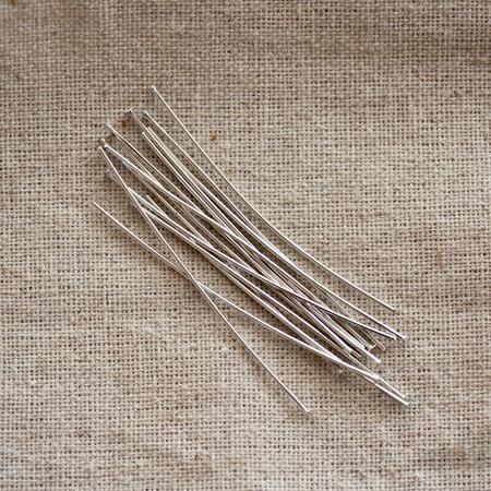 Clou à tête plate 5.0cm Argent gris x 20