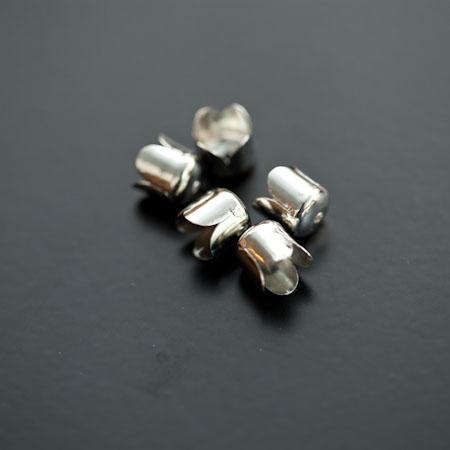 Colerette 8x6.5mm Argenté gris x 20pcs