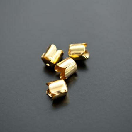 Colerette 8x6.5mm Doré x 20pcs