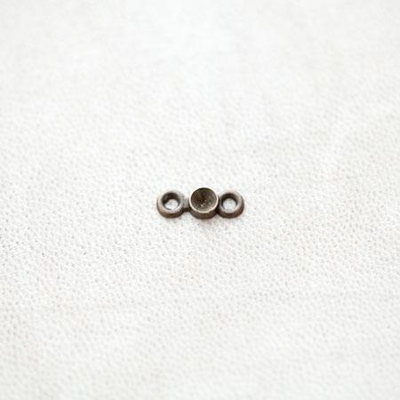 Connecteur à Cabochon 3.5mm Strass Bronze vieilli x 29pcs