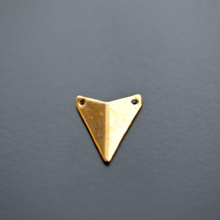 Connecteur Breloque Triangle Pointe 18x16mm Doré vieilli x 5pcs