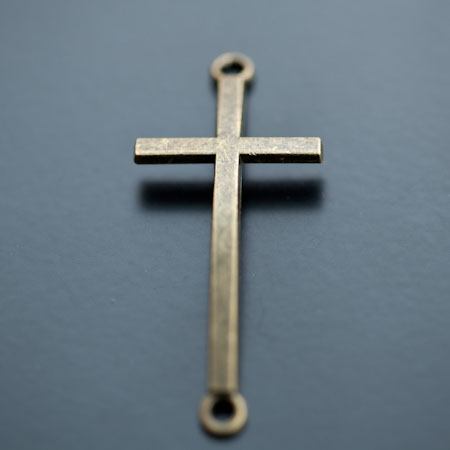 Connecteur Croix 51.5mm Bronze vieilli x 2pcs