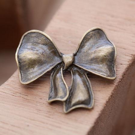 Connecteur Noeud Papillon Plein Bronze vieilli x 3