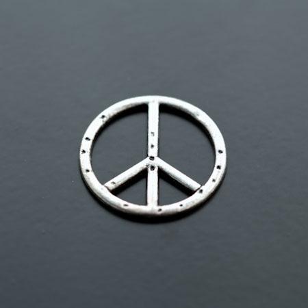 Connecteur Peace Argent vieilli x 8