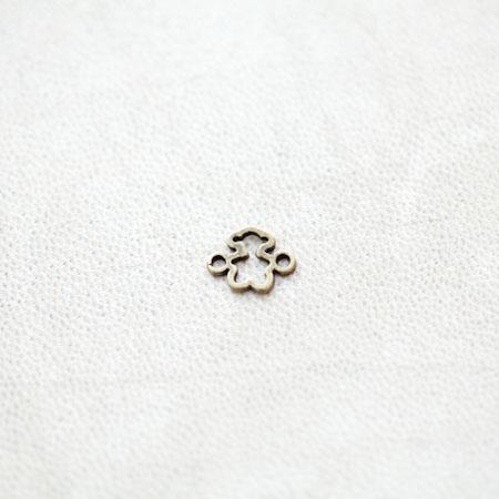 Connecteur Peluche Ours 8x10mm Bronze vieilli x 15pcs