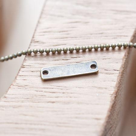 Connecteur Petite barre fine Bronze vieilli
